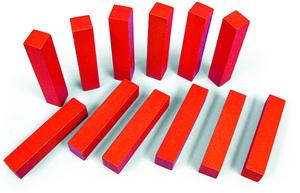 Счетные палочки 12 шт красные (RNToys)